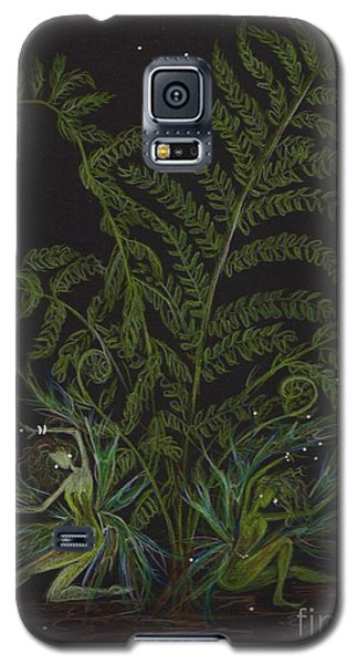 Galaxy S5 Case featuring the drawing Fairies Smell Like Ferns by Dawn Fairies