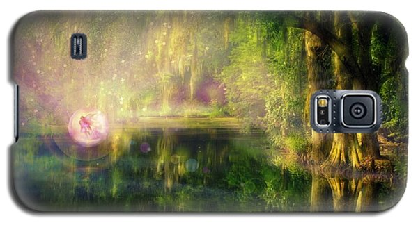 Fairy In Pink Bubble In Serenity Forest Galaxy S5 Case