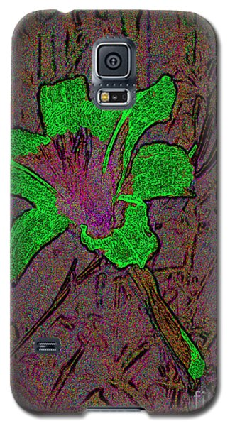 Galaxy S5 Case featuring the photograph Fairy Lily Abstract Digital Art by Merton Allen
