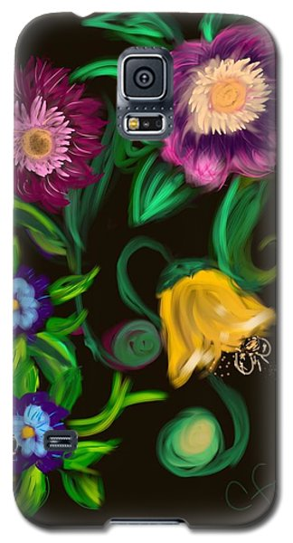 Galaxy S5 Case featuring the digital art Fairy Tale Flowers by Christine Fournier