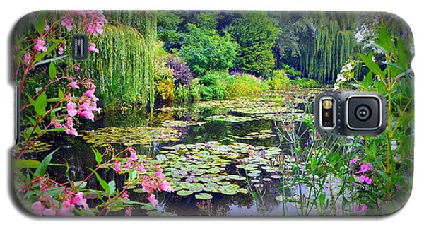 Fairy Tale Pond With Water Lilies And Willow Trees Galaxy S5 Case by Carla Parris