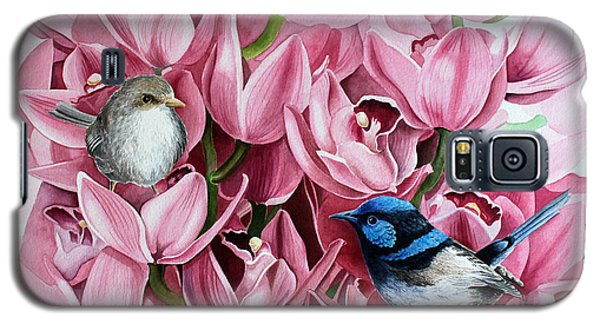 Fairy Wrens And Orchids Galaxy S5 Case