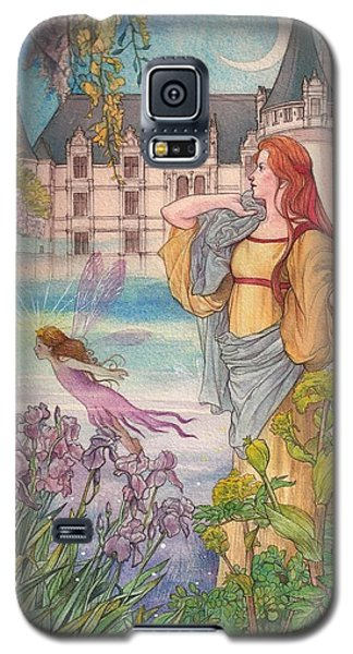Galaxy S5 Case featuring the painting Fairytale Nocturne Castle by Judith Cheng