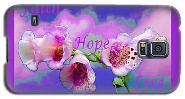 Faith-hope-love Galaxy S5 Case by Mike Breau