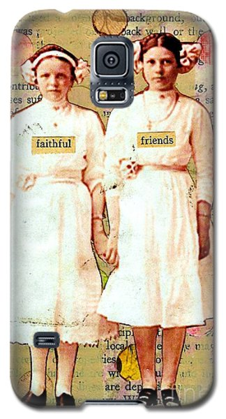 Galaxy S5 Case featuring the mixed media Faithful Friends by Desiree Paquette