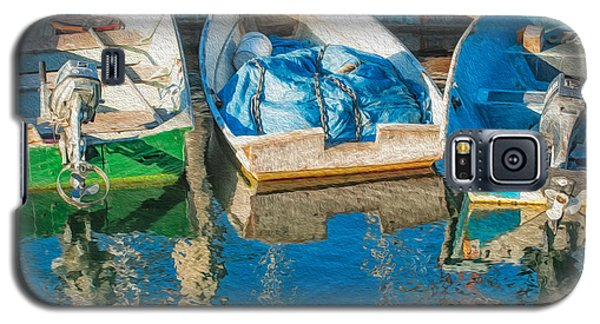 Faithful Working Boats Galaxy S5 Case by Joan Herwig