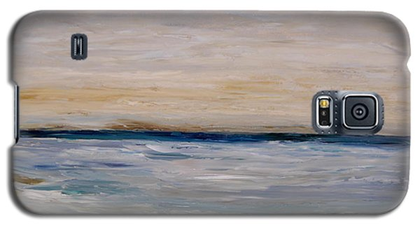 Galaxy S5 Case featuring the painting Fall Beach Day 3 by Lindsay Frost