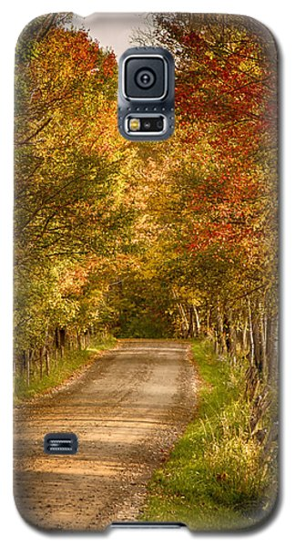 Galaxy S5 Case featuring the photograph Fall Color Along A Peacham Vermont Backroad by Jeff Folger