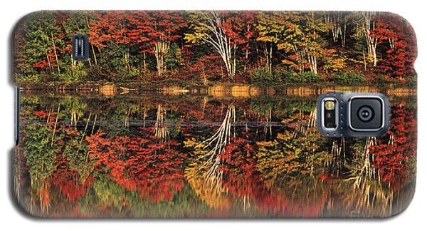 Galaxy S5 Case featuring the photograph Fall Color Reflected In Thornton Lake Michigan by Dave Welling
