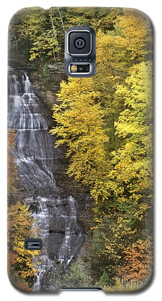 Galaxy S5 Case featuring the photograph Fall Color Surrounds Chapel Falls On The Michigan Upper Peninsula by Dave Welling