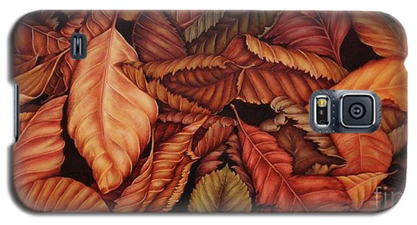 Galaxy S5 Case featuring the painting Fall Colors by Paula L
