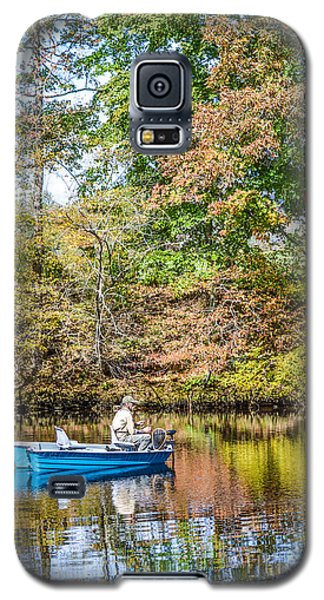 Galaxy S5 Case featuring the photograph Fishing Reflection by Debbie Green