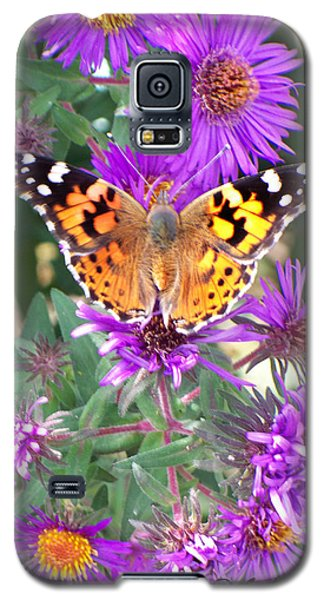 Galaxy S5 Case featuring the photograph Fall Flutterby by Sylvia Thornton