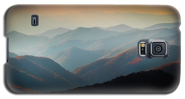 Fall Foliage Ridgelines Great Smoky Mountains Painted  Galaxy S5 Case