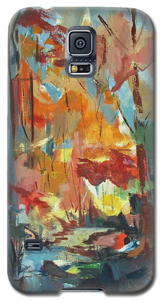 Galaxy S5 Case featuring the painting Fall From My Window by Betty Pieper