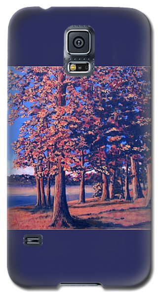 Galaxy S5 Case featuring the painting Fall In East Texas by Suzanne Theis