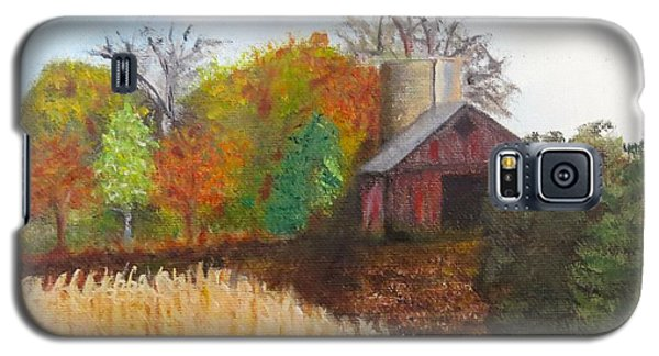 Galaxy S5 Case featuring the painting Fall In Wisconsin by Sharon Schultz