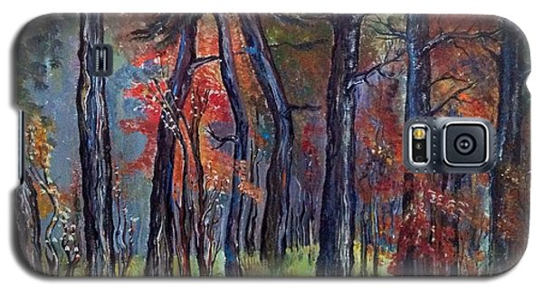 Galaxy S5 Case featuring the painting Fall by Iya Carson