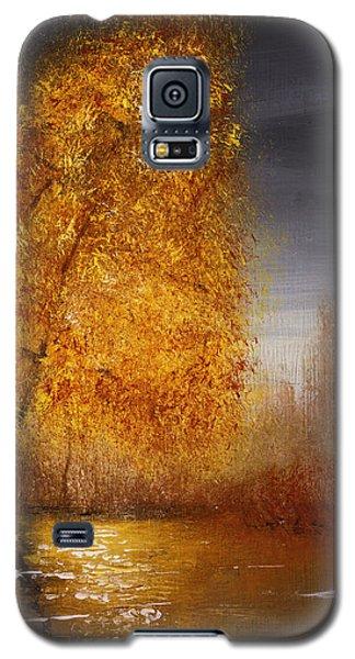 Fall Lake Reflections Galaxy S5 Case by Gray  Artus