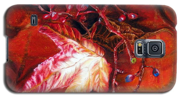 Fall Leaf And Berries Galaxy S5 Case by LaVonne Hand
