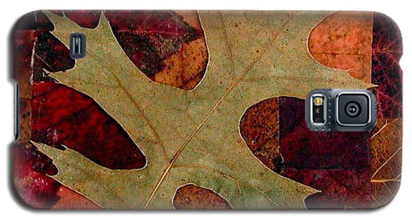 Galaxy S5 Case featuring the mixed media Fall Leaf Collage by Anna Ruzsan
