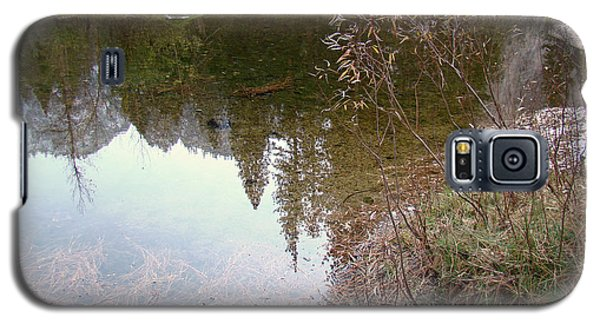 Fall Mirror Lake Reflections Galaxy S5 Case by Walter Fahmy
