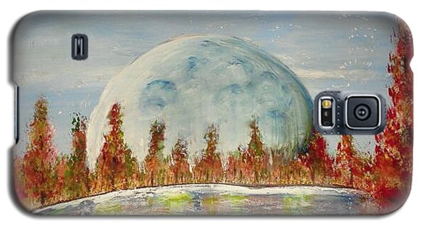 Galaxy S5 Case featuring the painting Fall Moon Rising by Carol Duarte