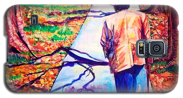 Galaxy S5 Case featuring the painting Fall On Highway 98' by Ecinja Art Works