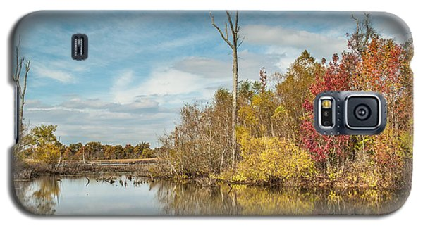 Galaxy S5 Case featuring the photograph Fall Pond by Debbie Green