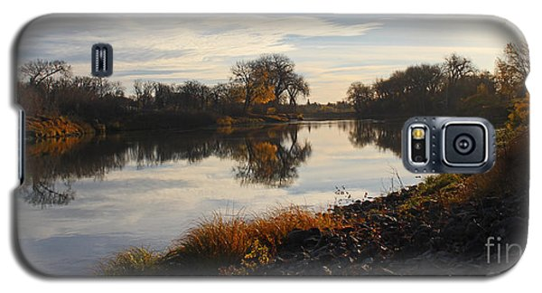 Fall Red River At Sunrise Galaxy S5 Case