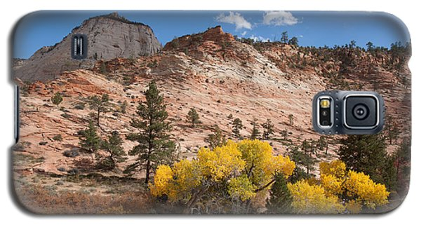 Galaxy S5 Case featuring the photograph Fall Season At Zion National Park by John M Bailey