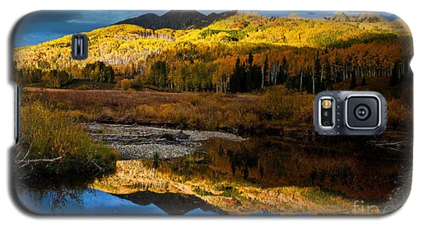 Galaxy S5 Case featuring the photograph Fall Sunset by Steven Reed