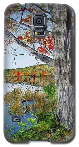 Galaxy S5 Case featuring the painting Fall Tree by Carol Flagg