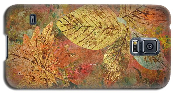 Galaxy S5 Case featuring the painting Fallen Leaves II by Ellen Levinson