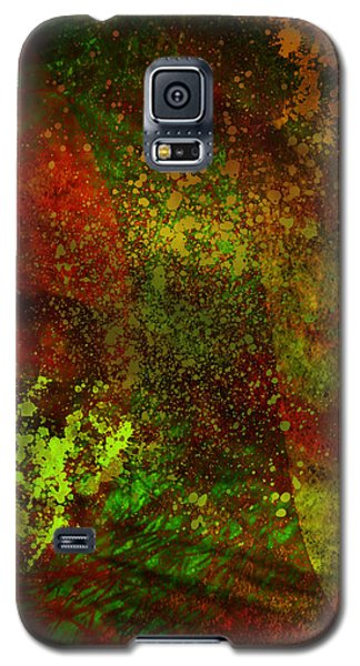 Galaxy S5 Case featuring the mixed media Fallen Seasons by Ally  White