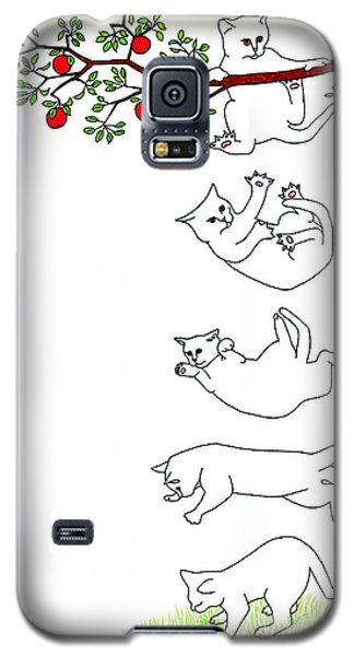 Falling Cat Galaxy S5 Case by Patricia Overmoyer