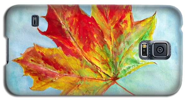 Falling Leaf - Painting Galaxy S5 Case