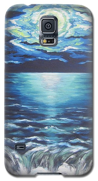 Galaxy S5 Case featuring the painting Falling Off The Edge by Cheryl Pettigrew