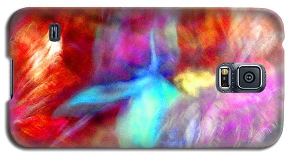 Falling Petal Abstract Red Magenta And Blue B Galaxy S5 Case by Heather Kirk