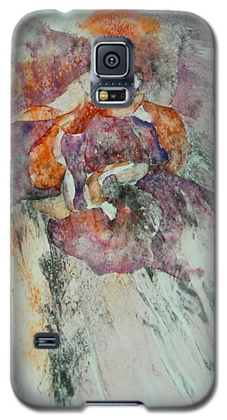 Galaxy S5 Case featuring the painting Falling Rose by Carolyn Rosenberger