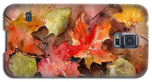 Galaxy S5 Case featuring the painting Falling by Sandra Strohschein