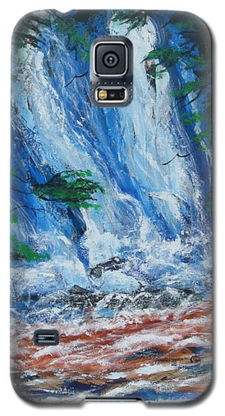 Waterfall In The Forest Galaxy S5 Case by Diane Pape