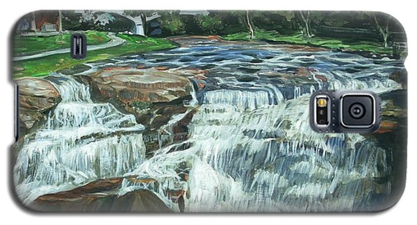 Galaxy S5 Case featuring the painting Falls River Park by Bryan Bustard