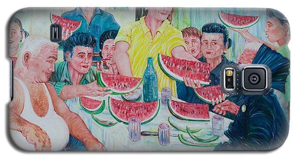 Galaxy S5 Case featuring the painting Forenza Vita - Famiglia Caputo 1973 by Giovanni Caputo