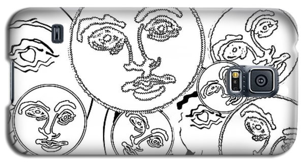 Galaxy S5 Case featuring the digital art Familiar Faces 2 by Christine Perry