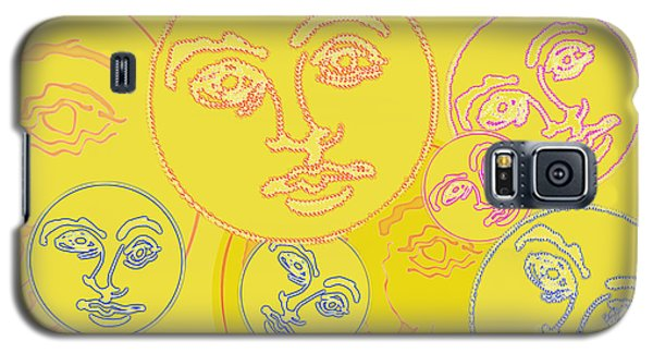 Galaxy S5 Case featuring the digital art Familiar Faces by Christine Perry