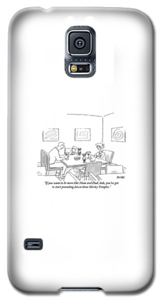 Shirley Temple Galaxy S5 Case - Family Around Table by Jack Ziegler