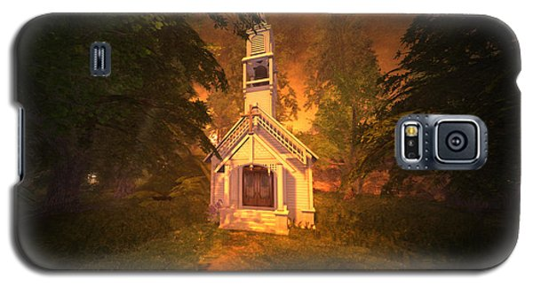 Galaxy S5 Case featuring the digital art Family Chapel by Kylie Sabra