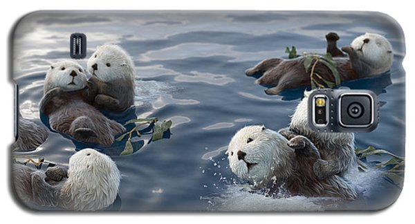 Otter Galaxy S5 Case - Family Fun by Gary Hanna