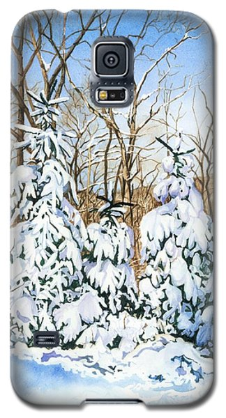 Galaxy S5 Case featuring the painting Family Of Four Trailside At 7 Springs by Barbara Jewell